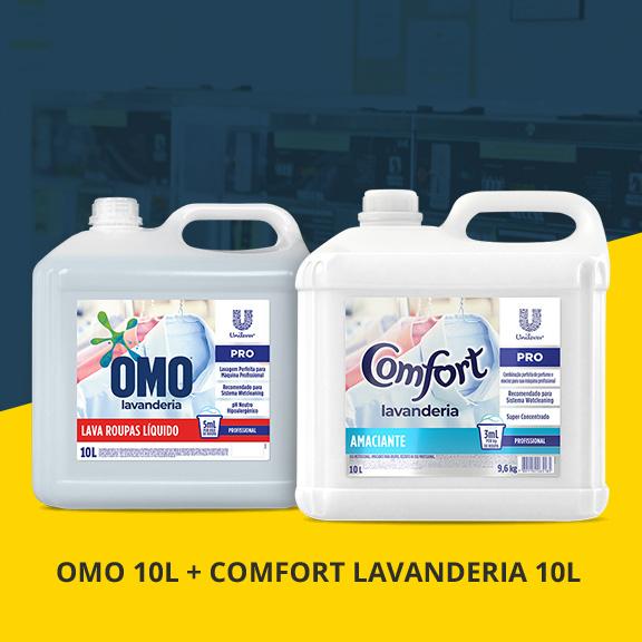 Combo OMO 10L + Comfort Lavanderia 10L