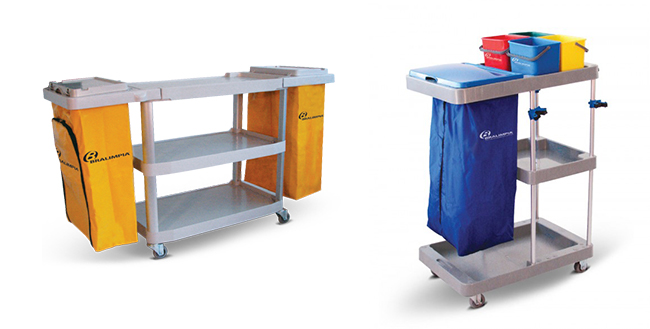 Carros Funcionais para Higienização e Limpeza Profissional