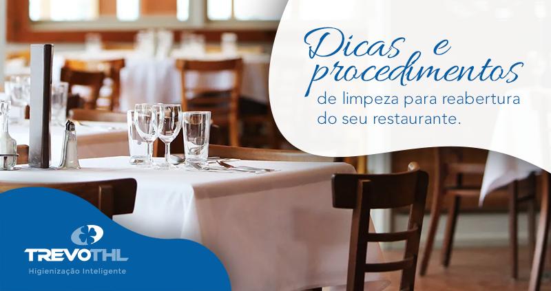Dicas e procedimentos para evitar contaminações na reabertura do seu restaurante